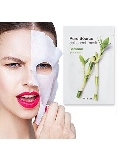 Missha Pure Source Cell Sheet Mask (Bamboo) Renksiz